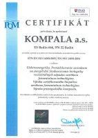 Certifikát ISO 14001:2005