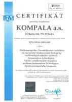Certifikát OHSAS 18001:2009